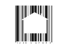 Barcode. A barcode isolated against a white background stock images