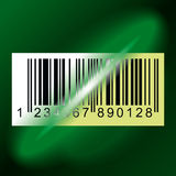 Barcode. Laser beam from Data Scanner pass through Barcode Label. Vector Illustration Royalty Free Stock Photography