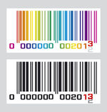 Barcode 2013. Create barcode 2013 for design work vector illustration
