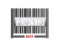 Barcode 2013. Barcode on New Year's Eve party in 2003 royalty free illustration