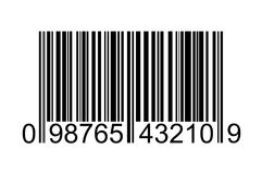 Barcode. Image of bar code with running numbers Stock Photos