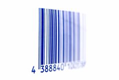 Barcode. Blue barcode on white background Stock Photos