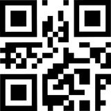 Barcode 2d simulation. For mobile device Royalty Free Stock Image