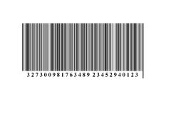 Barcode. On drawing barcode. from below numerals Royalty Free Stock Photo