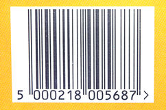 Barcode. A closeup of a barcode displayed on a product for purchase in a store royalty free stock photos