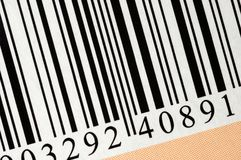 Barcode. Macro, can be used as a background royalty free stock photos