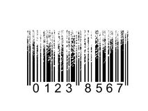 Barcode. Warping bar-code in perspective Stock Photography