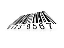 Barcode. Warping bar-code in perspective Royalty Free Stock Photo