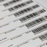 Barcode Royaltyfri Fotografi