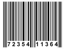Barcode. A simple black barcode like it is used on nearly all products vector illustration