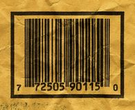 Barcode. Scan on envelope barcode. Barcode close up. Barcode concept stock photos
