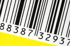 Barcode. Macro of barcode found on the box royalty free stock photo