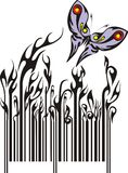 Barcode. Vectorized ornate the  barcode Royalty Free Stock Images