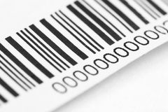 Barcode. Black lines on white background royalty free stock photo