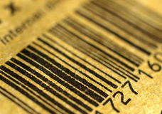 Barcode. Bar code black lines over white background barcode stock images
