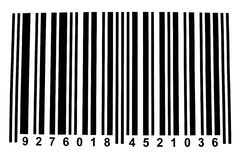 Barcode. For identifying all kinds of consumer goods stock photo
