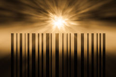 Barcode. Colored bar code with a light effect Royalty Free Stock Photos