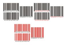Barcode. Vector illustration multi color Royalty Free Stock Images