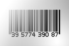 Barcode. Digital creation of a barcode with light source in top left corner Royalty Free Stock Photo