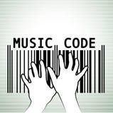 Barcode als Musik Stockfotografie