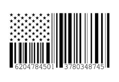 Barcode American flag Stock Photography