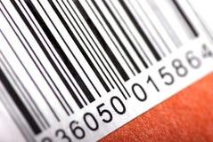 Barcode auf orange Hintergrund Lizenzfreies Stockbild