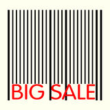 Barcode with big red text big sale Stock Photography