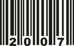 Barcode 2007 vector. Barcode 2007 birthday vector icon Royalty Free Stock Image