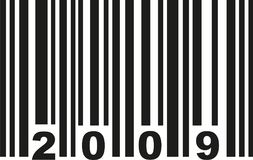 Barcode 2009 vector royalty free illustration