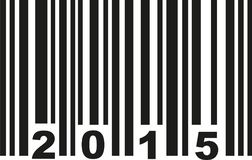 Barcode 2015 vector. Barcode 2015 birthday vector icon royalty free illustration