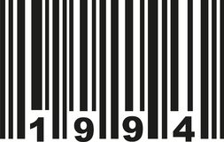 Barcode 1994 vector stock illustration