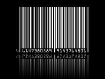 Barcode on black background Royalty Free Stock Photography