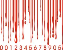 Barcode and blood Stock Photography