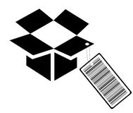 Barcode box. With ticket - vector illustration Royalty Free Stock Images