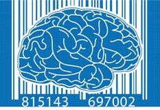 Barcode Brain Blue Stock Image