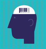 Barcode Brain Stock Images