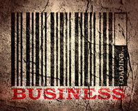 Barcode with business text and loading bar Stock Photos