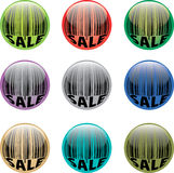 Barcode button. A set of vector glossy buttons with barcode Stock Photo