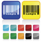 Barcode_button Stock Photo