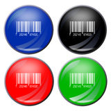 Barcode button Royalty Free Stock Photography
