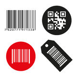 Barcode Button qrcode. Stock Images
