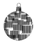 Barcode Christmas Ornament. A Christmas ornament made out of barcodes isolated on white Stock Image