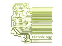 Barcode with circuit Stock Photos