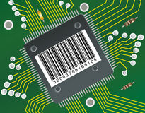 BarCode Circuit Stock Photos