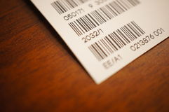 Barcode close-up Royalty Free Stock Photography