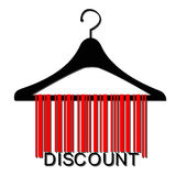 Barcode clothes hanger Stock Photo