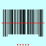 The barcode  it is color icon . Royalty Free Stock Photos