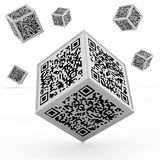 Barcode concept. Isolated 3d illustration Stock Images