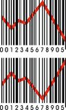 Barcode and crisis Stock Images