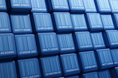 Barcode Cubes Royalty Free Stock Photo